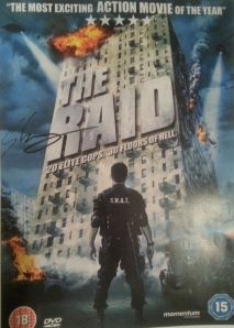 My signed The Raid poster