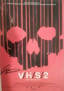 My signed VHS 2 poster