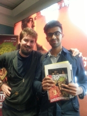 Hanging out with Adam Wingard at the Film4 Frightfest premiere of The Guest